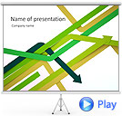 Arrow Abstraction Animated PowerPoint Templates