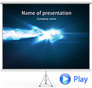 Blue Splash Of Light Animated PowerPoint Templates