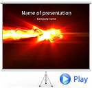 Red Splash Of Light Animated PowerPoint Template
