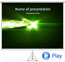 Green Splash Of Light Animated PowerPoint Template