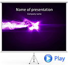 Lilac Splash Of Light Animated PowerPoint Template