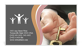 Key In Hand Business Card Template