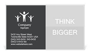 Ambitious Employee Business Card Template