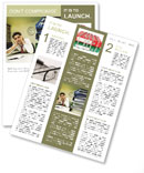 Burn Out At Work Newsletter Template