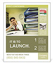 Burn Out At Work Poster Template