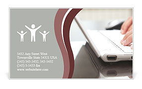 Working With Laptop Business Card Templates