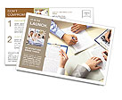 Office Work Postcard Templates