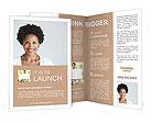 Woman's Profile Photo Brochure Template