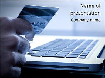 Shopping Via Internet PowerPoint Template