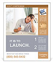 Tired Employee Poster Template
