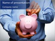 Pink Pig Bank I pattern delle presentazioni del PowerPoint