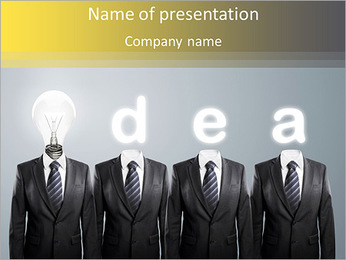 Bright Business Idea PowerPoint Template