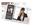 Receptionist Postcard Template