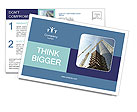 Build Skyscraper Postcard Template
