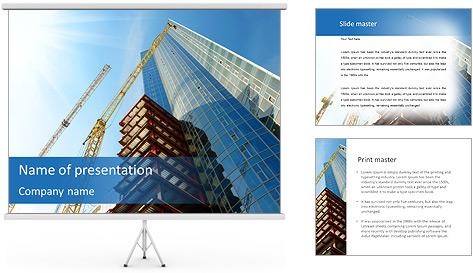 Construir arranha-céus Modelos de apresentações PowerPoint