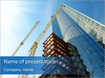 Construir arranha-céus Modelos de apresentações PowerPoint - Slide 1