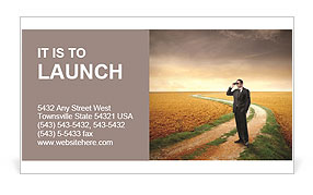 Businessman Outdoors Business Card Template