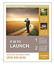 Businessman Outdoors Poster Template