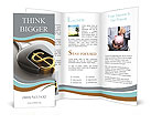 Golden Dollar Sign Brochure Templates