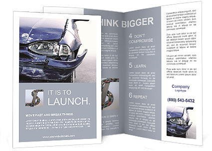 broken car brochure template