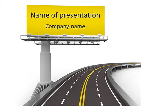 The Road And The Big Board Powerpoint Template Backgrounds Google