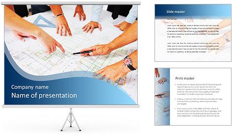 Esquema Architecht Modelos de apresentações PowerPoint