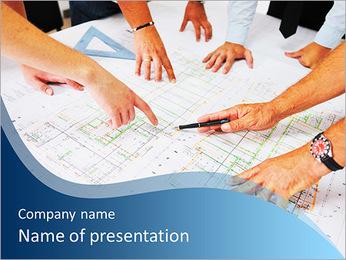 Architechtスキーム PowerPointプレゼンテーションのテンプレート