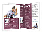 Busy Businessman Brochure Templates