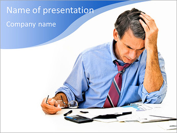 Busy Businessman PowerPoint Template