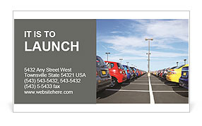 Parking Place Business Card Template