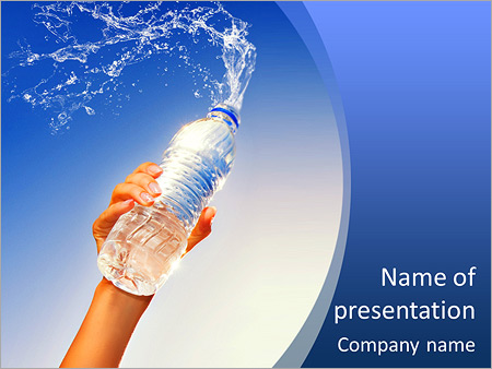Water - Powerpoint Template - Smiletemplates.Com