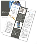 Mobile Phone In Chain Newsletter Templates