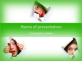 Gossiping Women PowerPoint Template