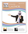 Man With Loudspeaker Flyer Template
