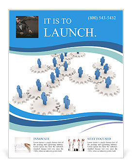 Network administration tri fold brochure template design.