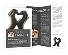 Make Heart With Palms Brochure Template