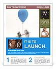 Barbell On Balloon Flyer Templates