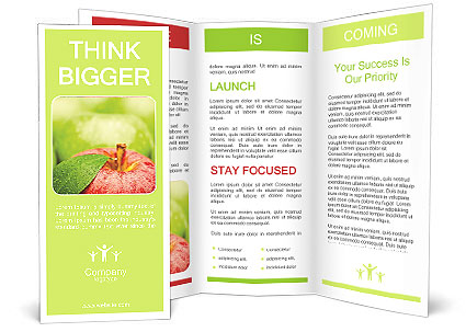 Red apple brochure template design id 0000007904 for Apple brochure templates