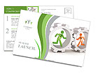 Employees In Wheel Postcard Templates