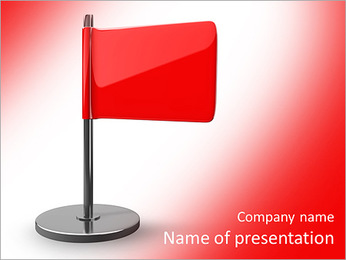 Red flag PowerPoint Template