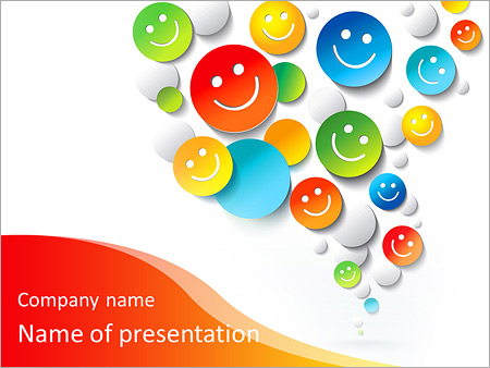 Positive Emotions Powerpoint Template Amp Backgrounds Id