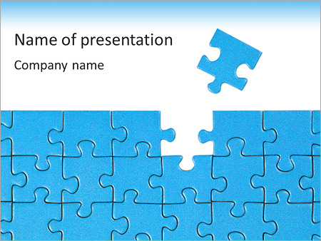 Finished blue puzzle powerpoint template backgrounds google finished blue puzzle powerpoint template maxwellsz