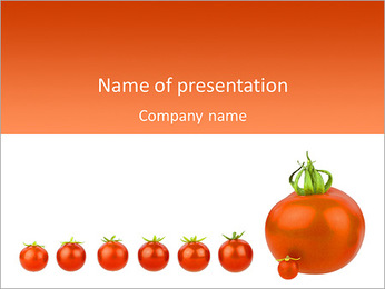 Tomatoe Size PowerPoint Template