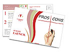 Pros And Cons Postcard Template