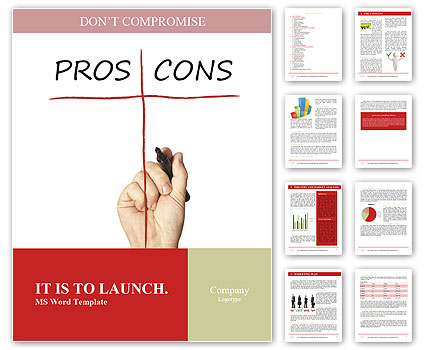 Pros And Cons Word Template Design ID 0000007936
