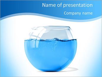 Water In Aquarium PowerPoint Template
