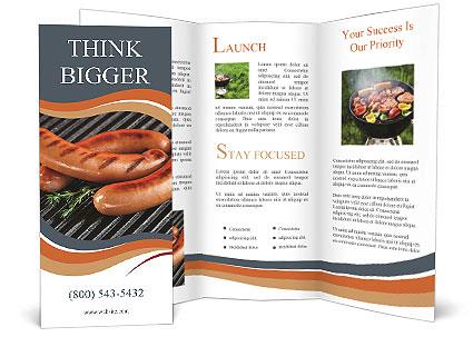 fried sausage brochure template design id 0000007941