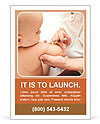 Baby Vaccination Ad Template
