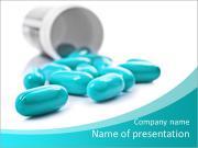 青い丸薬 PowerPointプレゼンテーションのテンプレート