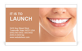 White Teeth Business Card Template